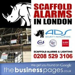 Scaffold Alarms North West London - Installed From £112.00 + VAT - ADS Security