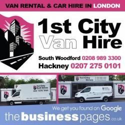 Weekend Van Hire East London - 1st City Van Hire Ltd