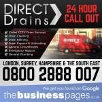 Emergency Drain Unblocking Surrey, Hampshire & London - Direct Drains