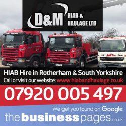 HIAB Hire Rotherham - D & M Hiab & Haulage