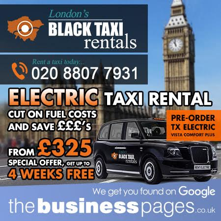 Rent a TX Electric Taxi - Black Taxi Rentals Ltd