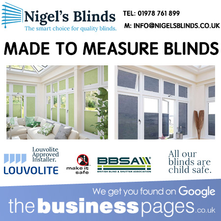 Made to Measure Window Blinds in Buckley, Mold, Northop Hall, Hawarden, Ewloe, Pulford, Connah's Quay, Hoole, Farndon, Handbridge, Penyffordd, Broughton, Holt, Bangor on Dee, Gresford, Marford, Llay, Brymbo, Coedpoeth, Marchwiel, Rossett, Hope, Chirk, Caergwrle,Chester &Wrexham.