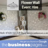 Flower Wall Hire - Essex Event Hire