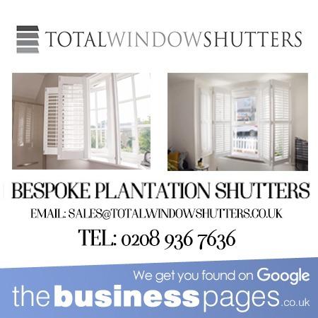 Total Window Shutters Tel: 0208 936 7636 Plantation Window Shutters in Eltham, Catford, Brockley, Lewisham, Blackheath, Greenwich, Dulwich, New Cross, Hither Green & South East London.