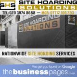 Scaffold Hoarding London - Site Hoarding Solutions