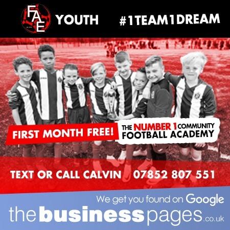 FAE Youth - Youth Football Training Waltham Abbey