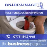 Toilet Unblocking in Orpington including Bromley, Beckenham, West Wickham, Chislehurst, Swanley, Dartford, Sevenoaks, Westerham, Edenbridge, Tunbridge Wells, Tonbridge, Sidcup, Bexley, Maidstone & Kent.