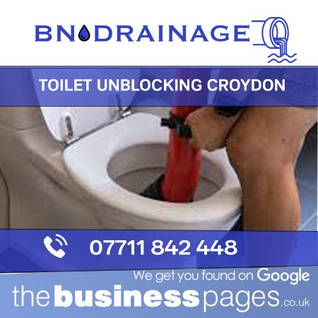 Toilet Unblocking in Croydon including Caterham, Whyteleafe, Coulsdon, Warlingham, Thornton Heath, Purley, Kenley, Chipstead, Sanderstead, Addiscombe, Addington, & Croydon.