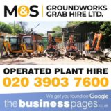 M&S Groundworks Grab Hire Ltd Tel: 020 3903 7600 provides Mini Digger Hire in Oxford Street, Regent Street, Soho, Harley Street, Marylebone, Mayfair, Tottenham Court Road, Great Portland Street, Paddington, Acton, Chiswick, Ealing, Hammersmith, Hanwell, Kensington, Maida Hill, North Kensington, Notting Hill, Shepherds Bush, West Ealing, West Kensington and West London.