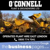 Operated Digger Hire East London – O'Connell Plant